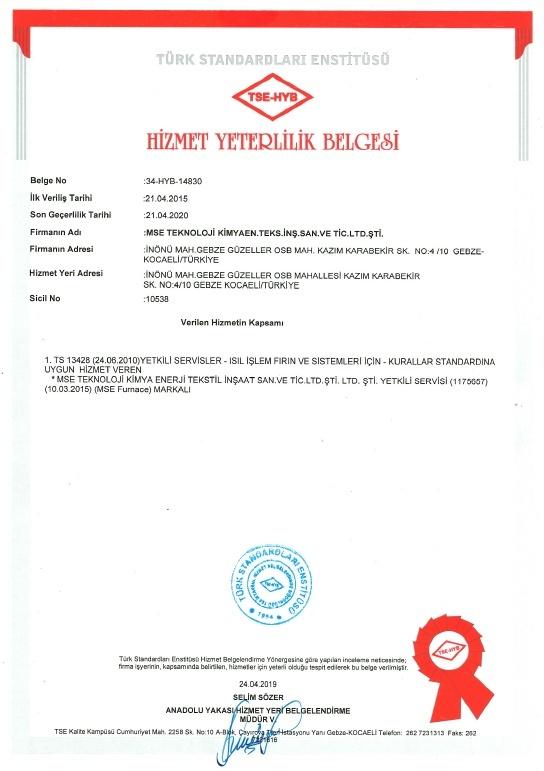 certifications sertifikalarımız